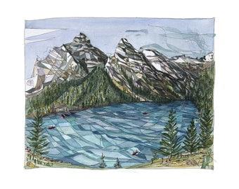 Lake Louise Banff National Park, Rocky Mountains, Calgary, Alberta Canada Giclee Print
