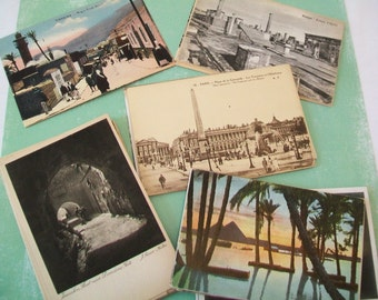 SALE - 42 European Postcards, 1940s, 1950s, UNUSED, Jerusalem, Egypt