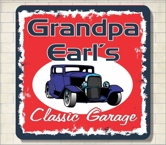 Custom Car Garage Signs : Custom antique garage car vintage sign new look hot wall decor