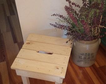 Items Similar To Re Claimed Wood Footstool Stepstool On Etsy