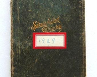 Vintage Diary 1929