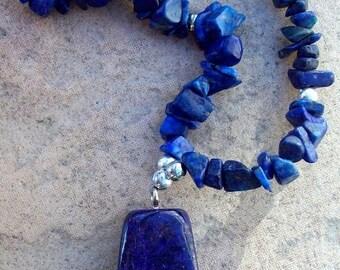 SALE BLUE BEAUTY Lapis necklace