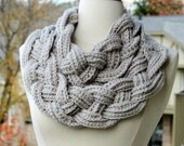 Braided Cowl Chunky Crochet Cowl Scarf Neck Warmer