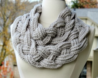 Braided Cowl Chunky Crochet Cowl Scarf Neck Warmer