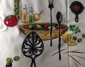Clean & Crisp Vintage Salad Themed Tablecloth