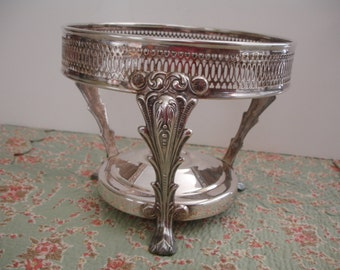 Vintage Chaffing Dish Silver Plate  W & S Blackinton  Vintage Silver  Buffet Stand  Food Warmer Stand  Ornate Silverplate Cake Plate Stand