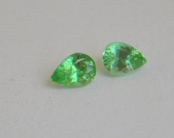 Kenyan Mint Tourmaline Matched Pair Pear Shape 6x4mm