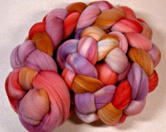Apricot Orchid 1 merino wool top for spinning and felting (3.9 ounces)