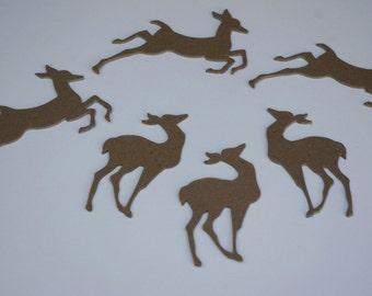 Chipboard Die Cut Reindeer Set