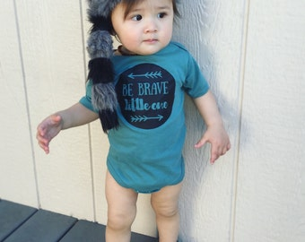 BOHEMIAN LINE - Be Brave Little One Bodysuit or Toddler Tee - Available in various colors and Sizes