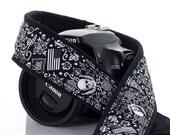 Skull Bandana dSLR Camera Strap, American Flag, Skulls, Wings, Biker, Paisley, SLR,  Photographer Gift, Camera Accessories,186 a
