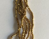 RARE - Antique Metal Cut Micro Beads  - GOLD