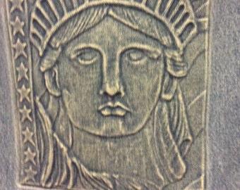 Lady Liberty Denim Tote Bag