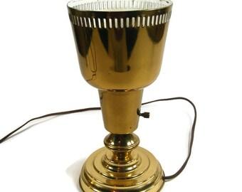 Vintage Up Lighting Gold-tone Metal Desk Lamp