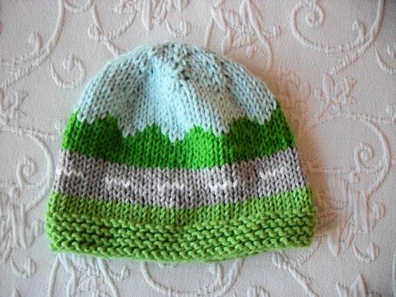 Knitted Hat Pattern Baby Hat Pattern Newborn Infant Hat Pattern Hat Pattern T...