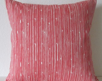 Pillow cover - Coral White - Scribble Stripe - Accent - Cushion cover