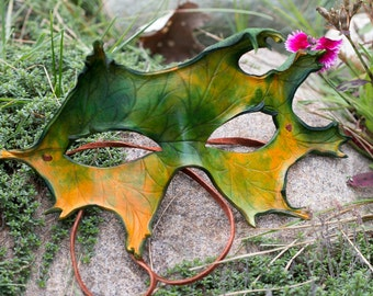 Oak Leaf Leather Mask