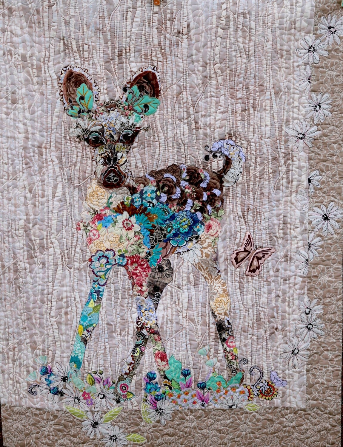 Marveles Paper Pattern For Collage Quilt June Baby Bambi Fawn