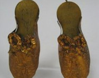 Victorian Match Holder Slippers or Thimble Shoe What Not