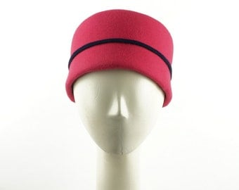 Jackie Kennedy Pillbox Hat, Jacqueline  Kennedy Hat, Pink Hat, Pink Pillbox Hat, Pink Hat, Womens Hat, 1950s Fashion, Felt Hat, Handmade Hat