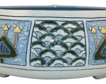 Roseville Pottery Della Robbia Four Color Bowl (Larzelere)