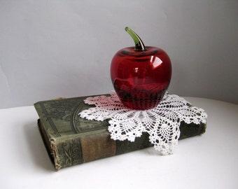 Vintage small glass apple Decorative glass apple