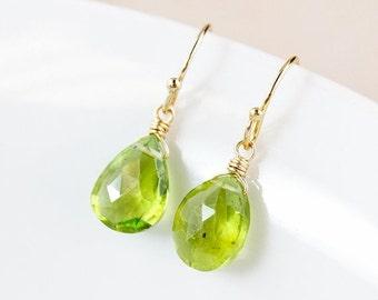 25% OFF Green Peridot Earrings - August Birthstone Earrings - August Peridot