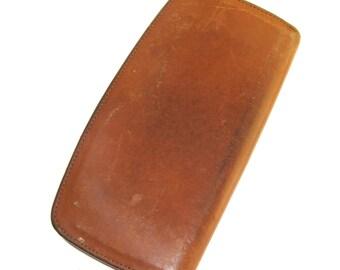 vintage coach brown zip leather wallet