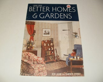 Vintage Better Homes and Gardens Magazine June 1938 - Cool Old Car Ads, Scrapbooking, Paper, Vintage Ads