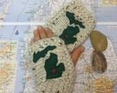 Custom Michigan mitten fingerless mittens place your heart