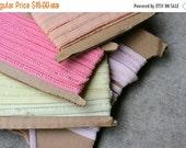 SALE SALE SALE Vintage Elastic Trim Destash Lot Pastels Sewing Supplies