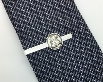 Arrow tie bar small silver arrow tie bar Aim High gift