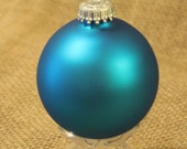 Paradise Blue -- Glass Ball Ornament -- 1 or 8 count -- Christmas by Krebs -- Ornament to Decorate
