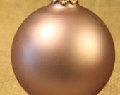 Glass Ball Ornament, 1ct.  Victorian Mauve