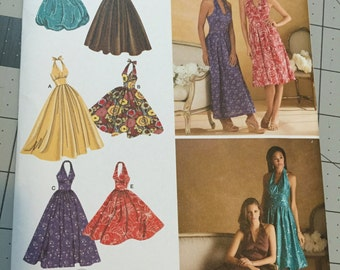 Simplicity Sewing Pattern 3823, NEW Sizes 6-14 Halter Dresses
