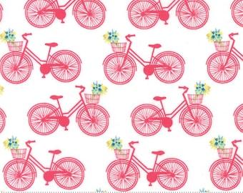 Moda Fabric ACREAGE Pedal Pink Bicycles- yards