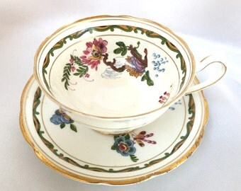 Vintage 1920s Star Paragon England tea cup and saucer