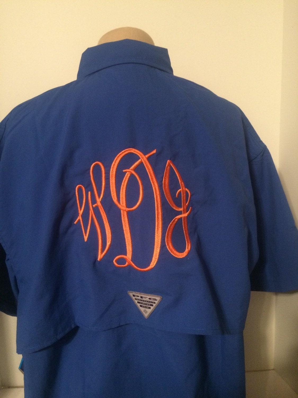 Monogrammed Columbia Pfg Shirt Short Sleeve Monogrammed