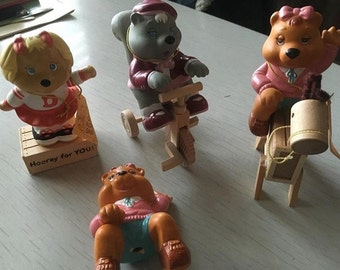 Vintage 80s Getalong Gang ceramic figures