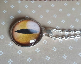 25mm round pendant necklace - dragon eye