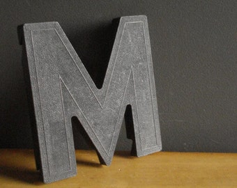 This Listing Brought to You by the Letter M - Vintage Letter M - Black Letter M Monogram - Vintage Marquee Signage Letter
