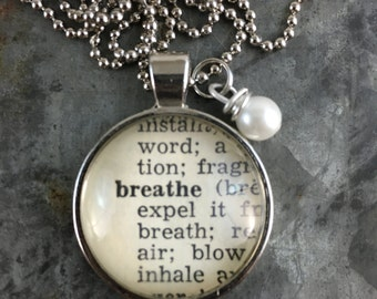 Dictionary Word Necklace - Breathe