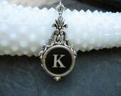 Antique Typewriter Key Jewelry - Typewriter Necklace Letter K