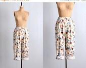 45% OFF SALE.... vintage pants • nautical print • novelty pants • sailor pants •