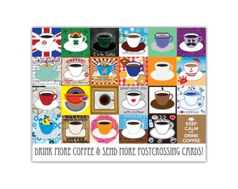 Postcrossing Coffee Postcard