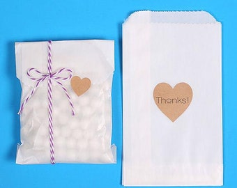 Bulk Small Glassine Bags, Glassine Paper Favor Bags, Cookie Bags, 1/4 Candy Bag, Candy Buffet Bags, Wedding Favor Bag, Wax Bags (100)