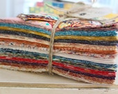 Rag Quilt Kit - DIY - Throw Size - Indie - Cut Fabric, Batting, Instructions Included