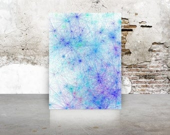 Garden Party Tie Dye inspired Abstract Generative Art, by San Francisco artist Kristin Henry. Boho Chic Giclee Limited Edition TieDyeTall_9r