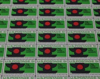 Scott #1272 US Postage Stamp  Postage Stamp Sheet Stop Traffic Accidents MNH OG