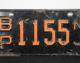 License Plate Tag New Jersey 1155